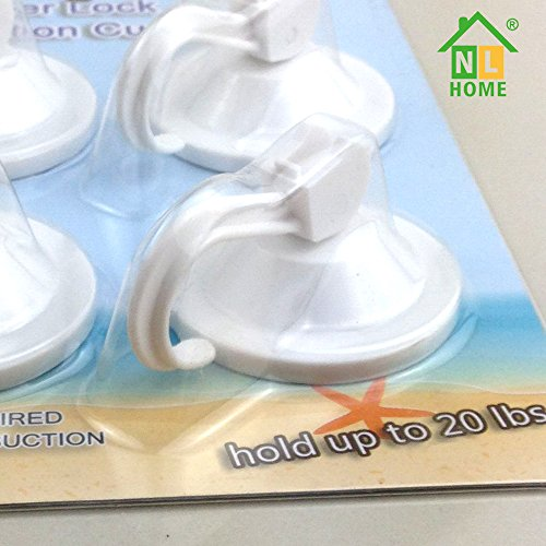 4 pack power lock suction cup hooks white by nl home 11street malaysia towel mats robes. Black Bedroom Furniture Sets. Home Design Ideas