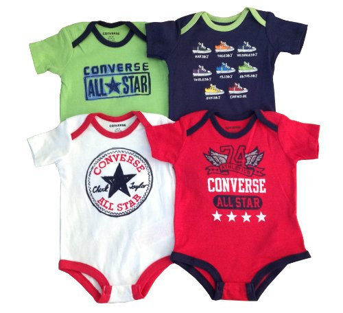 Converse Baby 4pc Short Sleeve Bodysuits