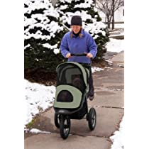 Pet Gear Jogger Stroller for Pets Up to 70-Pound Sage