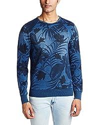 GAS Men's Fleece Sweatshirt (8059890988563_85105WY55_X-Large_WY55 - Blue)