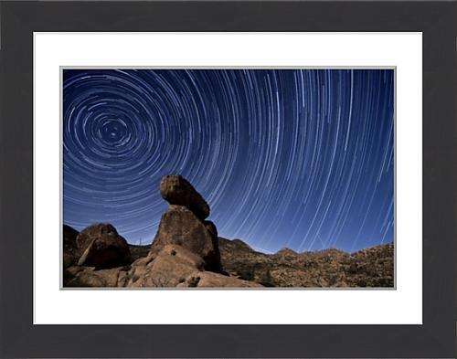 framed-print-of-star-trails-above-a-granite-rock-formation-in-cleveland-national-forest