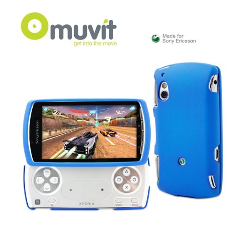 Coque gomme bleue Xperia play - made for Sony ericsson