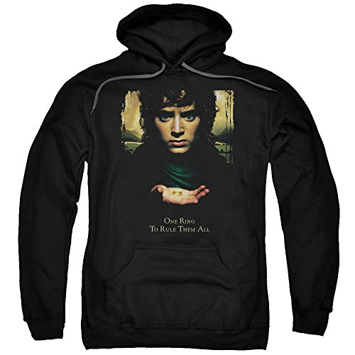 The Lord of The Rings Movie Frodo One Ring Adult Pull-Over Hoodie