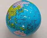 空気でふくらむ風船地球儀 グローブボール(行政)