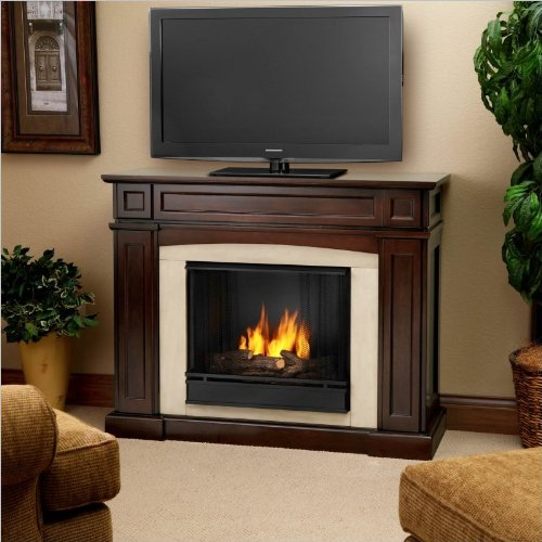Real Flame Rutherford Gel Fireplace in Dark Mahogany image B006TTVCQC.jpg