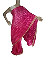 Beautiful RUDA Designer Phulkari Embroidered Saree-JS1130