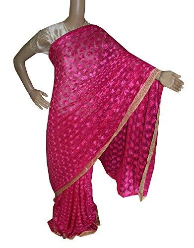 Beautiful RUDA Designer Phulkari Embroidered Saree-JS1130