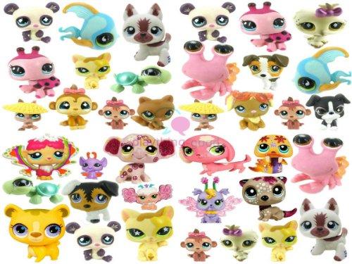"Lot of 20 PCS Littlest Pet Shop 2"" Figures Random Styles Collect (Buy Reward: 1pcs Littlest Pet Shop Bird Rare Figure)"