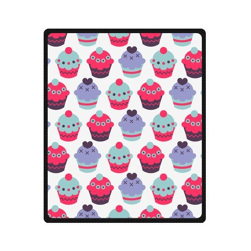 Personalized Fashion Seamless Pattern Colorful Cakes Picture Fleece Blanket 50 X 60 back-1076846
