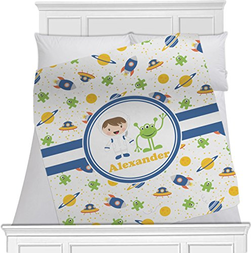 """Boy'S Space Themed Personalized Blanket - (40"""" X 30"""") front-807524"""