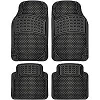 OxGord 4-Piece Car Floor Mat Set (Black)