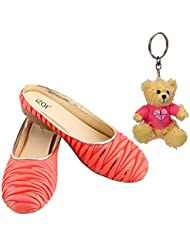 Raksha Bandhan Gift For Sister, Fashionable Casual Wear Bellies For Women And Girls With Free Teddy Keyring(Keyring...