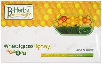 B-herbs Wheatgrass Honey Box of 10 Sachets