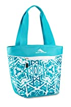 High Sierra Lunch Tote, Teal Shibori/Tropic Teal/White