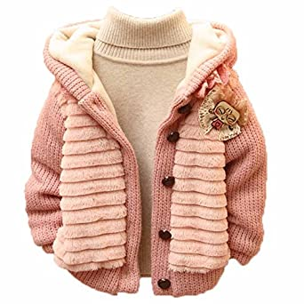 Acefast INC Toddler Baby Girl Cardigan Warm Jacket Knit Sweater Clothes Outwear