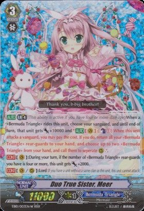 Cardfight!! Vanguard Tcg - Duo True Sister, Meer - Whtie (Eb10/S03En) - Extra Booster Pack 10: Divas Duet back-907427
