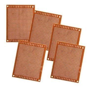 5x PCB de Prototype 5x7cm Solder Fini pour le bricolage Circuit Board Breadboard