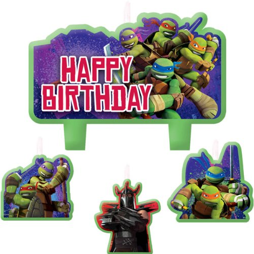 4-Piece Teenage Mutant Ninja Turtles Candles, Multicolored - 1