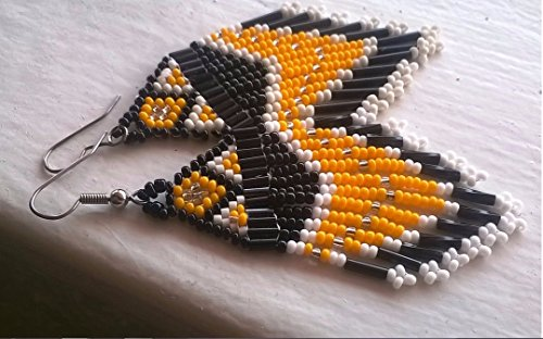 PITTSBURGH STEELERS Inspired Beaded Earrings