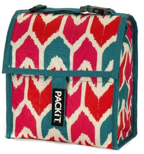 PackIt Freezable Lunch Bag with Adjustable Strap, Ikat - 1