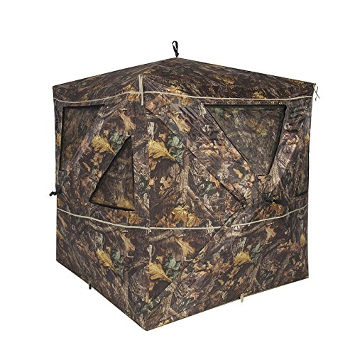 [2-3 Person Camouflage Hunting Blind Ground Deer Archery Outhouse Hunting Tent] (Homemade Character Costumes Ideas)