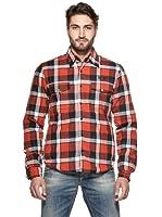 Meltin'Pot Camisa Philippe (Rojo / Azul)