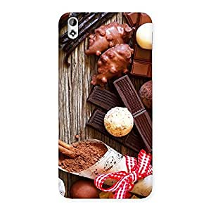 Cute Chocolate Candies Multicolor Back Case Cover for HTC Desire 816