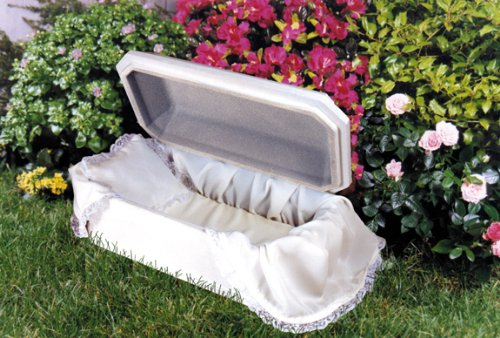 PET CASKET Deluxe Affordable Pet Caskets Small Dog Casket Large Cat Casket Bird Casket Rabbit Casket {Pet Casket Color-White Wood Grain Casket Size - 20