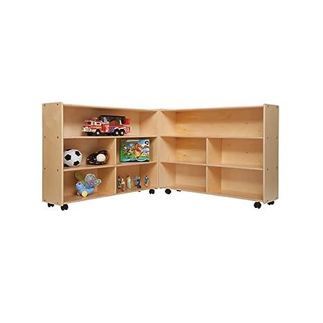 "Contender Kids Home School Furniture C13730 Mobile Folding Versatile Storage Unit 35 1/2""H"