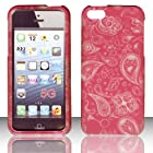 2D Pink Paisley Apple Iphone 5, 5g At&t. Verizon, Sprint, C Spire Case Cover Hard Phone Case Snap-on Cover Rubberized Touch Hard Shell Protector Cover Phone Hard Case