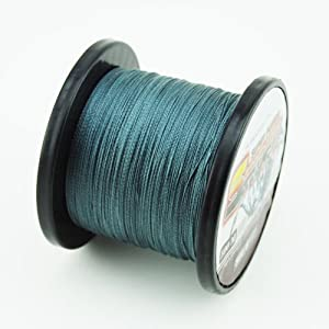 SuperPower Low-Vis Gray Braid Fishing Line 500M (550 Yards) Advanced Superline by Eposeidon