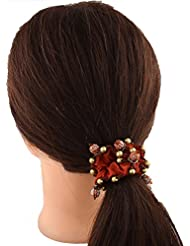Anuradha Art Orange Colour Beautiful Stylish Look Hair Accessories Hair Band Stylish Rubber Band For Women/Girls