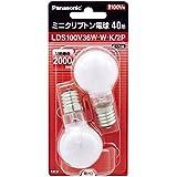 Panasonic 白熱電球・ミニクリプトン 電球E17口金 100V40W形(36W) 35mm径 ホワイト2個入り LDS100V36WWK2P