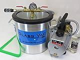 GlassVac 3 Gallon Aluminum Chamber & 4 CFM 2 Stage Vacuum Pump