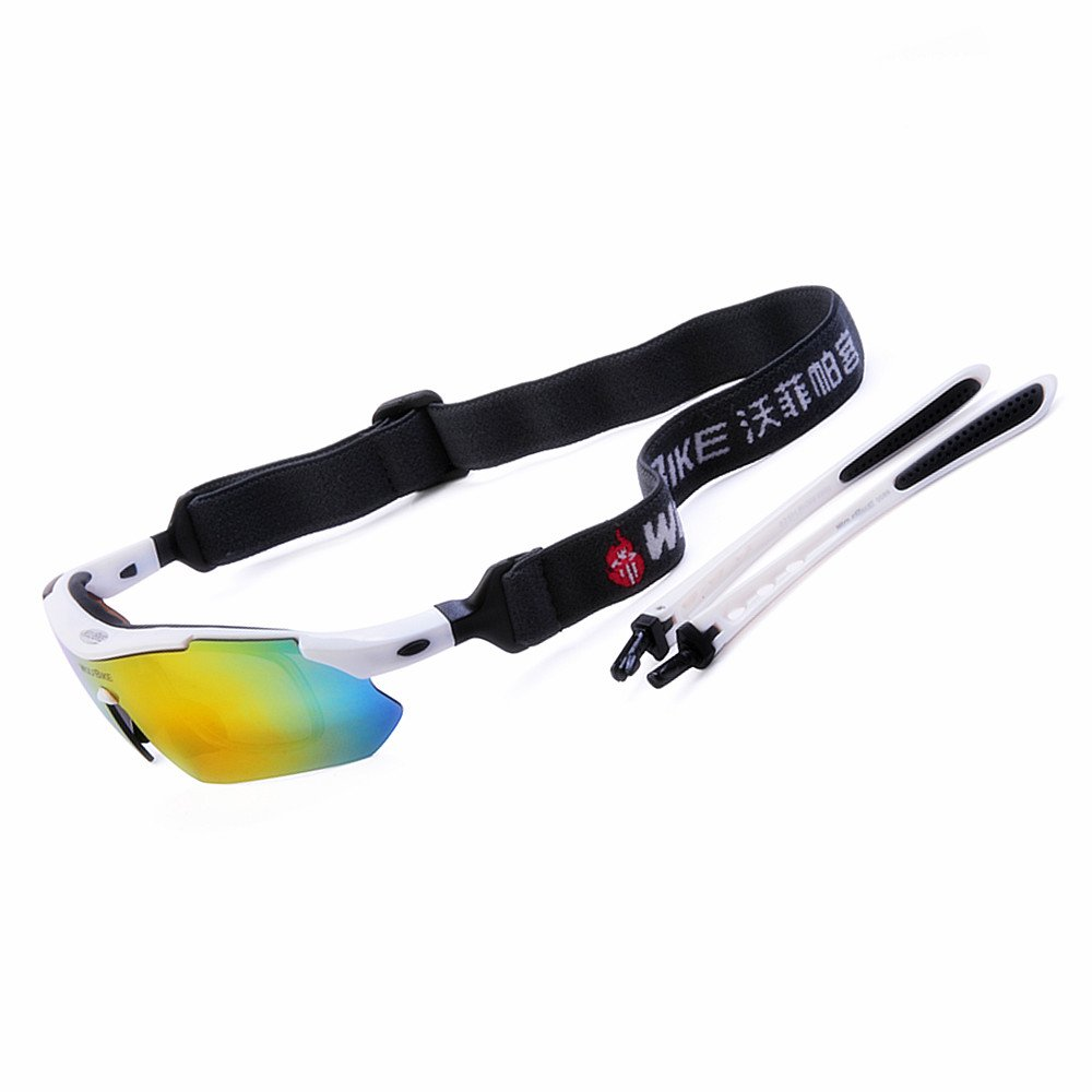 WOLFBIKE Polarized Cycling Sun Glasses Outdoor Sports Bicycle Glasses Bike Sunglasses Running Driving Racing Ski Goggles Eyewear Cool with Exchangeable 5 Lens White Frame - - Amazon.com