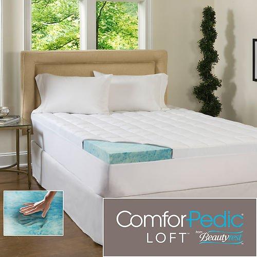 Beautyrest 4.5-Inch Supreme Gel Memory Foam And Fiber Mattress Topper front-958768