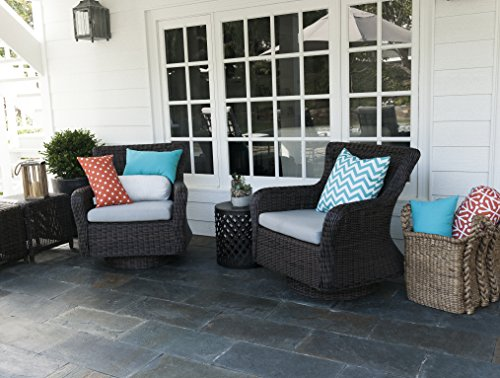 Majestic home goods chevron pillow large teal furniture for Home goods patio furniture