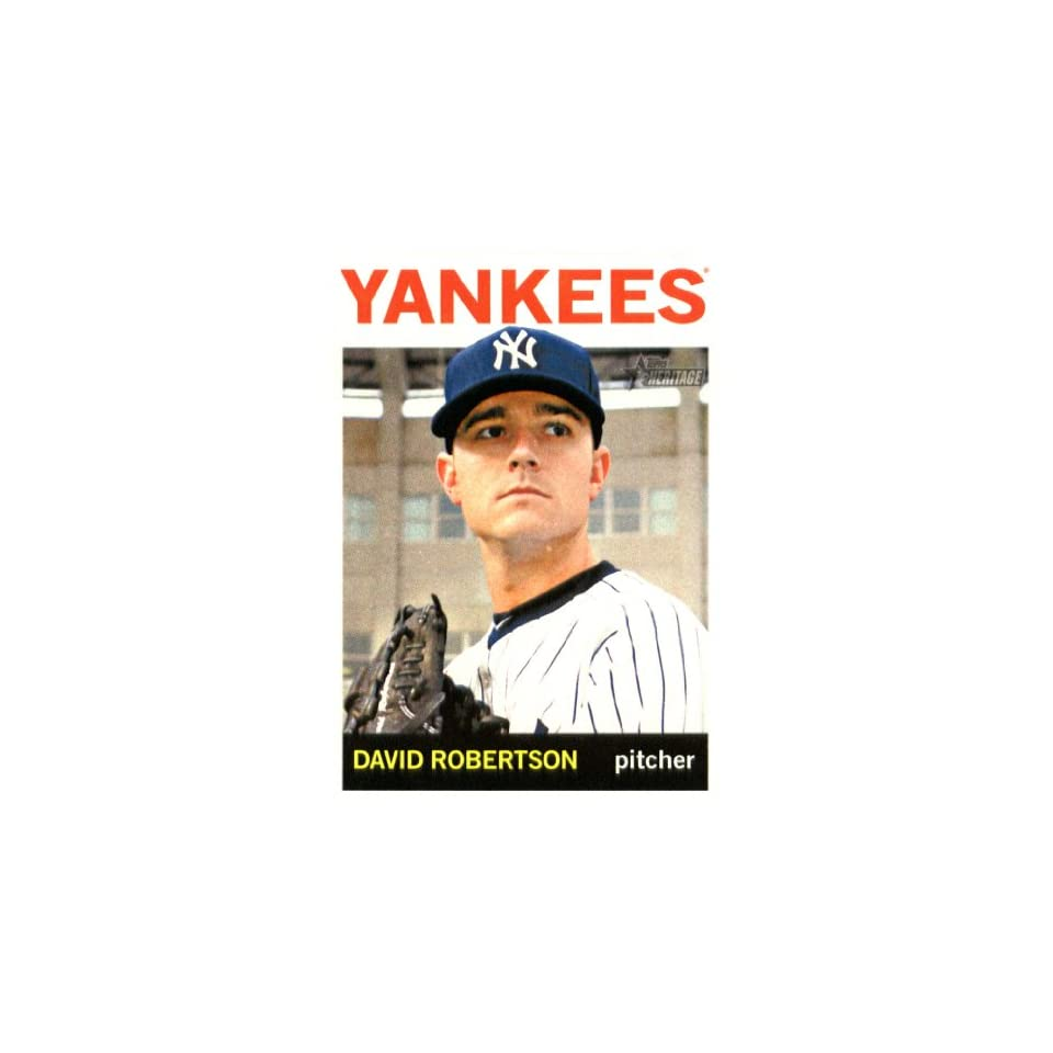 2013 Topps Heritage Baseball Card IN SCREWDOWN CASE #339 David Robertson ENCASED