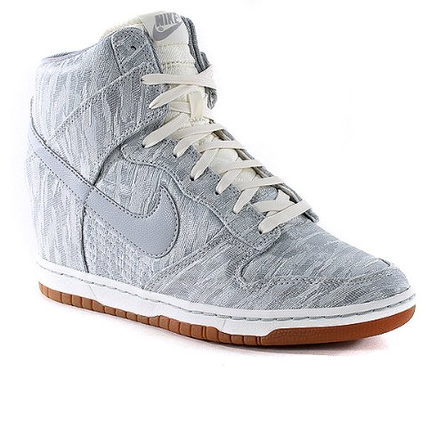 Nike Womens Dunk Sky Hi Prm Shoes - Sail-Silver