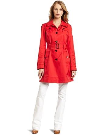 (史低)Tommy Hilfiger 汤米女士薄款外套黑色束带风衣$89.99