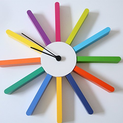 Youngerbaby elegant rainbow colorful diy creative whatever for Whatever clock diy