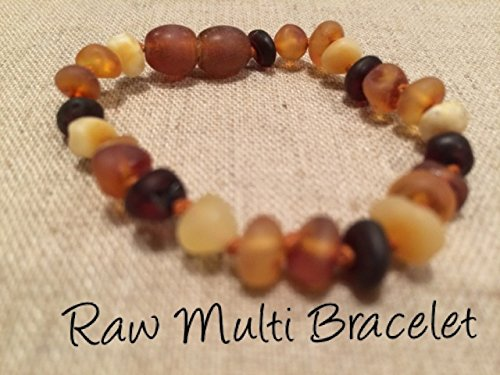 Baltic Amber Teething Bracelet For Babies And Toddlers Raw Multi Certified Authentic. Anti-Inflammatory, Reduction Of Drooling, Red Cheeks, Teething Pain. Highest Quality front-593966
