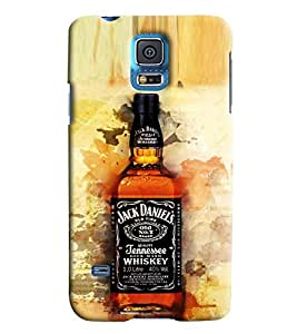 Blue Throat Jack Daniels Prints Printed Designer Back Cover For Samsung Galaxy S5