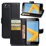 KM-WEN® Schutzhülle für HTC One A9S Bookstyle Litchi