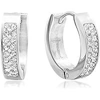 3-Pack Huggie Earrings with Swarovski Crystals