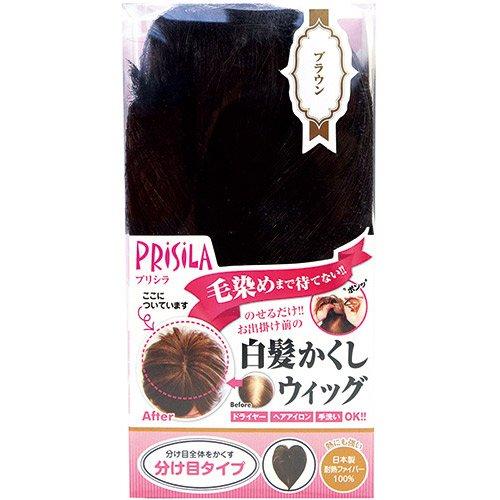 プリシラ 白髪かくしウィッグ分け目タイプ