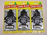 ブラックアイス  Little Trees エアフレッシュナー3個セット /リトルツリー・エアフレ