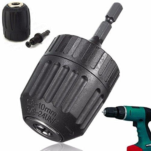 Drillpro Heavy Duty Keyless Drill Chuck Trapano Mandrino 0.8-10mm /0.031''-0.39'' Chiusura Rapida con Adattatore SDS