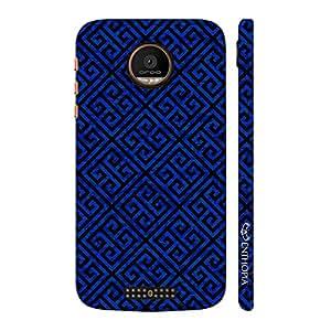 Enthopia Designer Hardshell Case Blue Greecian Pattern Back Cover for Motorola Moto Z Force