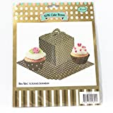 PrettyurParty Brown Polka Dot Cupcake Box - (Pack Of 6)